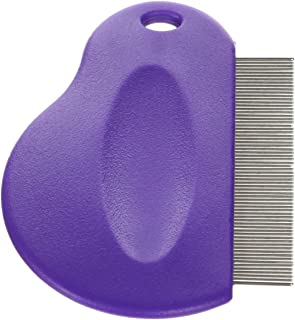 Master Grooming Tools Contoured Grip Flea Combs — Ergonomic Combs for Removing Fleas, Purple