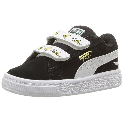 d8fb3e4d568c44 PUMA Minions Suede Velcro Kids Sneaker