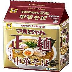 マルちゃん マルちゃん正麺 中華そば 和風醤油 5食パック(105g×5P)