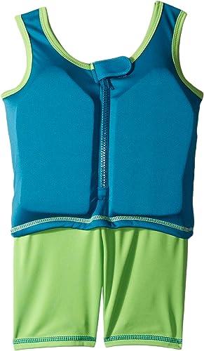 Aqua Leisure ET9137L Boys 1 pc swim trainer, shark print top, solid shorts, with back zipper-L Toy by Aqua Leisure