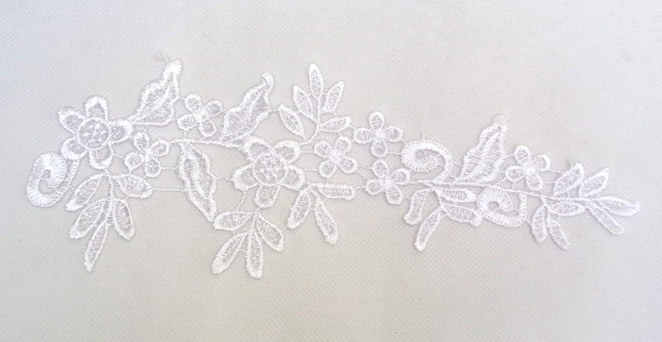 10 Pieces X White Bridal Floral lace Appliques Dress Sewing White Cotton lace Motifs White lace appliqués