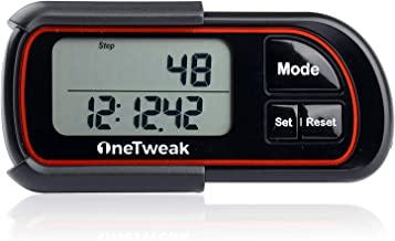 OneTweak New EZ-1 Pedometer for Walking. 3D Tri-Axis Clip-On. Back-to-Basics Step Counter. Simple to Use. Multi-Function. New Pause Function. Perfect Fitness/Exercise Tool.