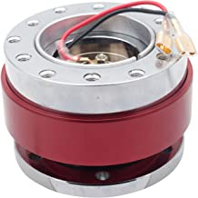 Car Steering Wheel Hub Adapter, MASO Universal Wheel Quick Release Snap Off Boss Kit (Red)