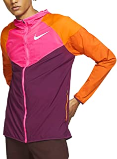 Nike Windrunner Men's Running Jacket (Bordeaux/Laser Fuchsia/Cinder Orange, Medium)
