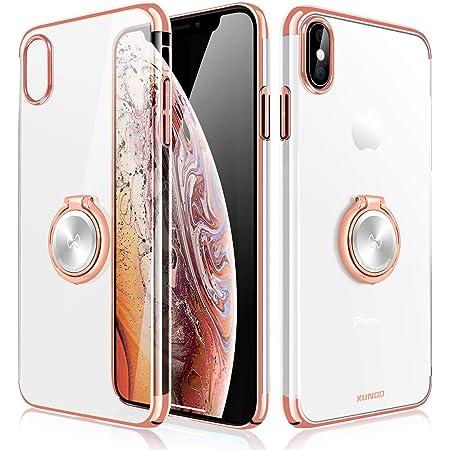 Xundd iPhone XR Custodia, Cristallo con Anello Magnetico del cavalletto Funzione di 360 °, Magnete Supporto per Auto per iPhone XR