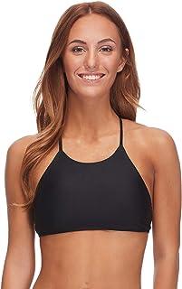6165ebcddddd Body Glove Women's Smoothies Elena Solid High Neck Crop Bikini Top Swimsuit
