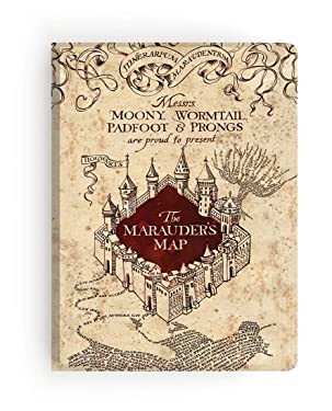 Paper House Productions Harry Potter Marauder's Map Softcover Journal Lined Notebook, Multi