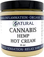 Zatural Hemp Hot Cream-Hemp Oil-Organic Hot Cream-Anti Cellulite-Muscle Cream-Pain Support (2 Pack 8oz)