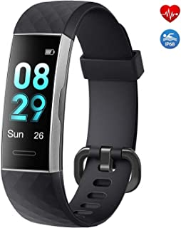 moreFit Fitness Tracker HR,Waterproof Acitivity Tracker with Color Screen,Smart Fitness Band Pedometer Watch with 14 Sports Mode,Sleep Monitor Step Counter for Android & iOS