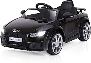 Costzon Kids Ride On Car, 12V Licensed Audi TT RS, Remote Control Manual Two Modes Operation, MP3 Lights (Deluxe Black)