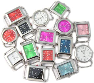 Ribbon Bar Watch Faces for Beading, 10 PCs Assorted