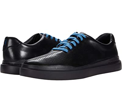 Cole Haan Grandpro Rally Laser Cut Sneaker (Black/Black) Men