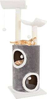PETMAKER Cat Tree 5 Tier Double Decker Condo 4 Toys 2 Scratching Posts, 44.75