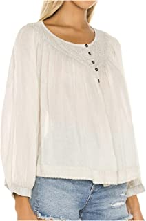 Free People 'Cool Meadow' Peasant Blouse, Ivory (XSmall)