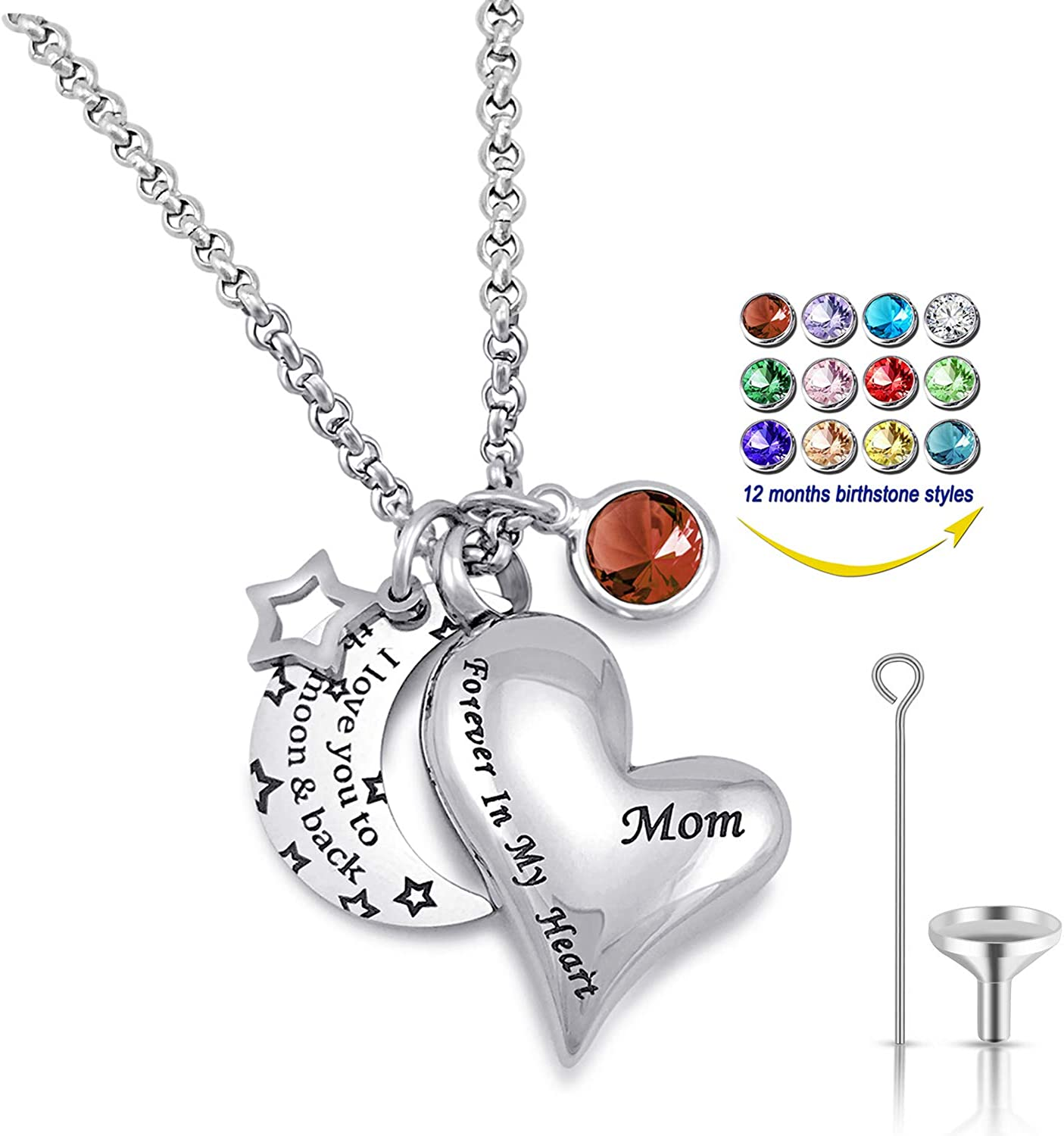 YOUFENG Urn Necklaces for Great interest Ashes I Love Moon to The Ranking TOP19 You and Back