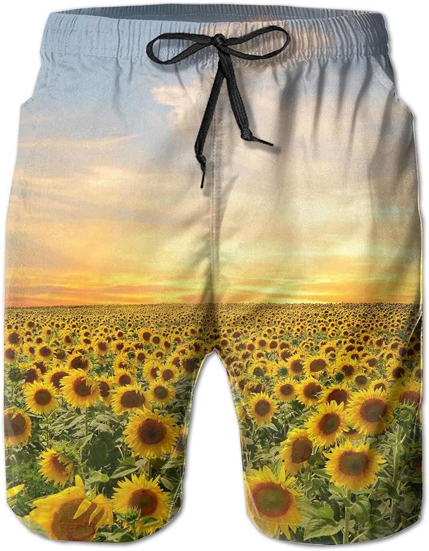Lalysao Sunflowers Sunflowers Sunflowers Yellow Flower Men's Summer Trunk 42ed7e