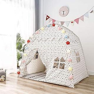 YXZN Stort barns tält tipi bärbara flickor rosa prinsesslott vikbara barn inomhus lekhus baby spel tält gåva rum dekor