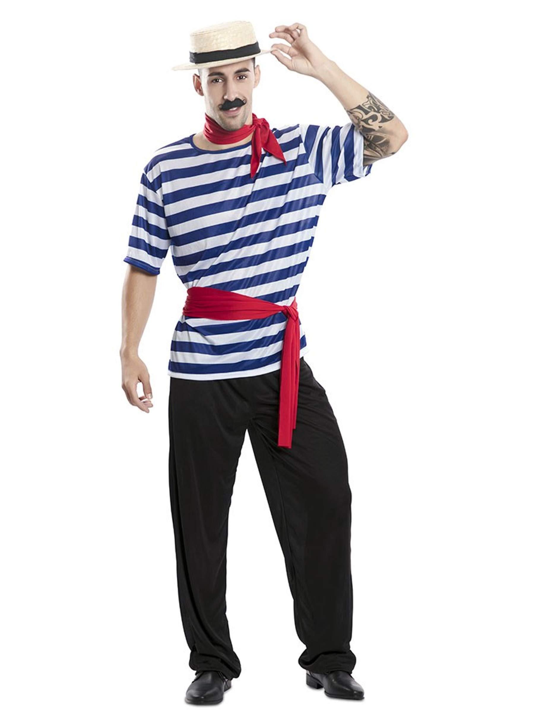 EUROCARNAVALES Disfraz de Gondolero para Hombre: Amazon.es ...