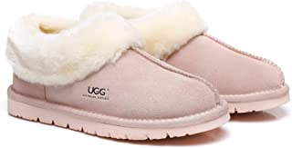 UGG Slippers Australian Premium Soft Sheepskin Wool Women's Slipper Winter Home Cozy Moccasins Shoes
