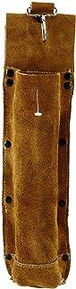 Flame-Resistant Electrode Bag/Welding Rod Pouch/welding rod holder/Leather Electrode Holder/ (gold brown)