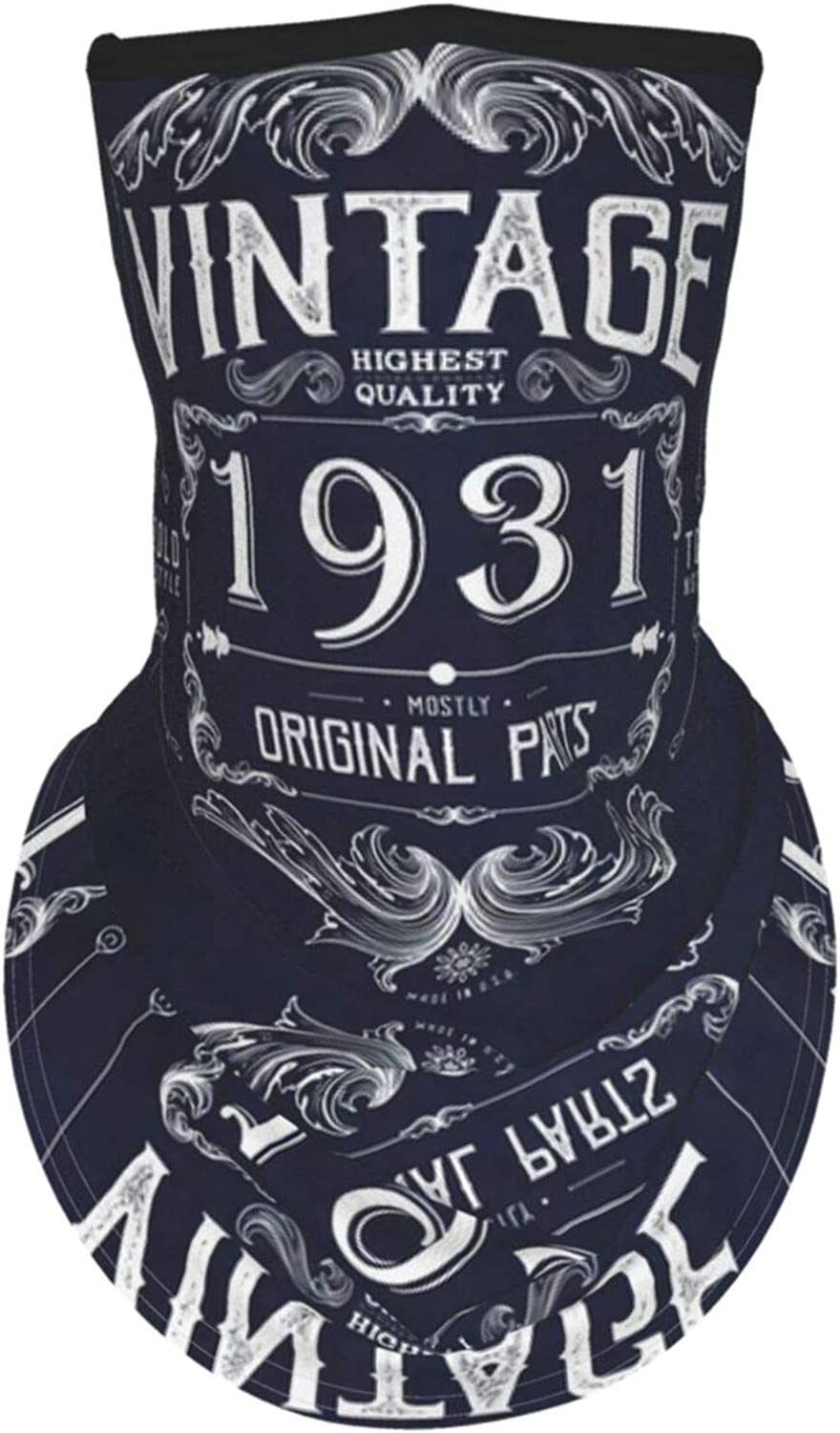 Ear Hangers Face Balaclava Vintage 1931 Mostly Original Parts Navy Protective Cover Wristband Bandanas Neck Gaiter Dust-Proof,Anti-Pungent Gas,Washable