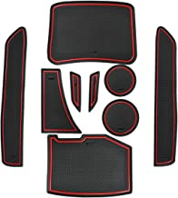 Cup Holder and Door Compartment Liner AccessoriesDoor Mats Gate Slot Mat Cup Pads for 2019 2018 2017 2016 Chevrolet Chevy Camaro Coupe Convertible 9-pc Set