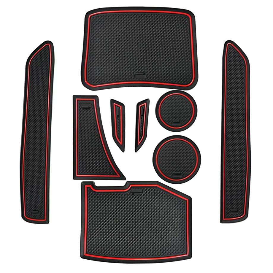 Cup Holder and Door Compartment Liner Accessories?Door Mats Gate Slot Mat Cup Pads for 2019 2018 2017 2016 Chevrolet Chevy Camaro Coupe Convertible 9-pc Set