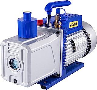 VEVOR Vacuum Pump 12 CFM 1 HP Double Stage Air Conditioning Vacuum Pump 110V Ultimate Vacuum Refrigerant HVAC Air Tool for...