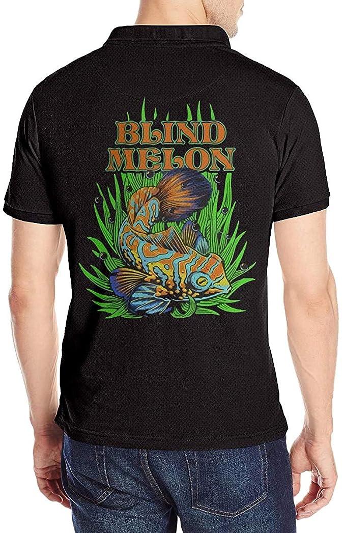 プレゼンテーション閲覧する花Blind Melon ブラインド?メロン ポロシャツメンズ半袖 モーション 花柄 通気性 贈り物 Tシャツ