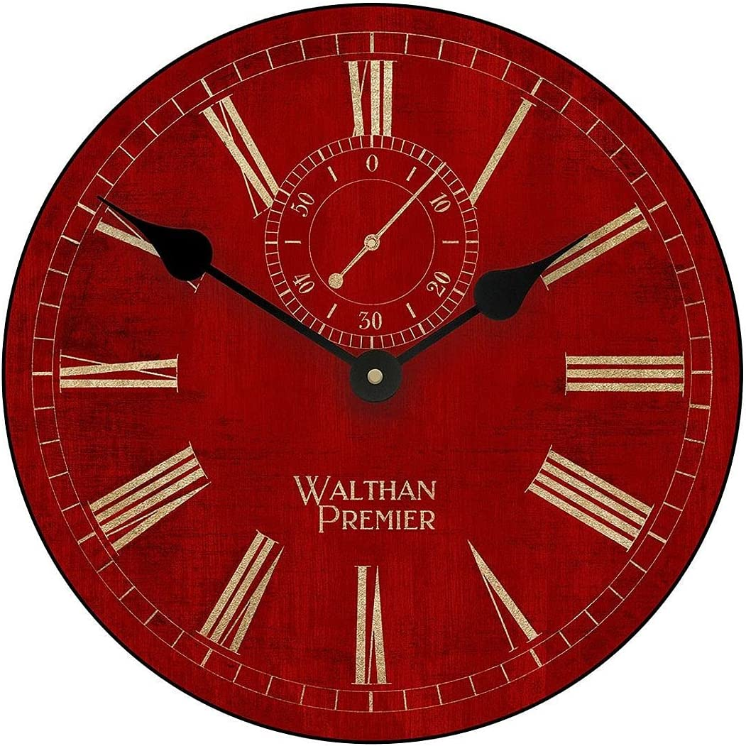 Alston Walthan Red Gold Large Wall for Clock Mail order cheap 8 Max 53% OFF Great Sizes