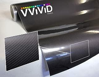 VViViD High Gloss Black Carbon Fiber Tech Art 3-Layer 3D Realistic True Carbon Fiber Look Cast Vinyl Wrap (0.5ft x 5ft)