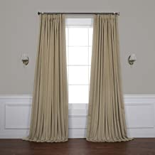 """Half Price Drapes BOCH-151304-108-DW Extra Wide Blackout Curtain, 100"""" x 108"""", Classic Taupe"""