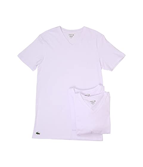 Lacoste Essentials 3-Pack V-Neck Tee at Zappos.com b827b644bc9d