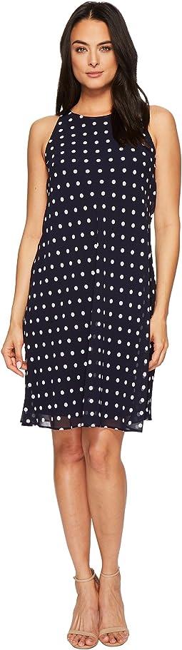 Geminah Classy Dot Georgette Dress