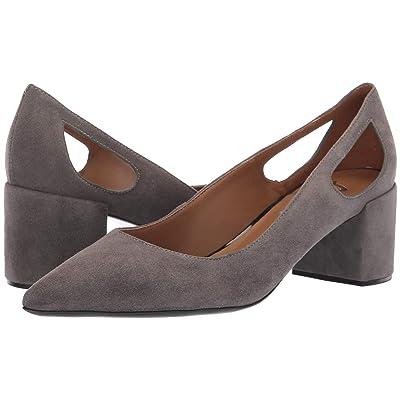 French Sole Courtney2 Heel (Dark Grey Suede) Women