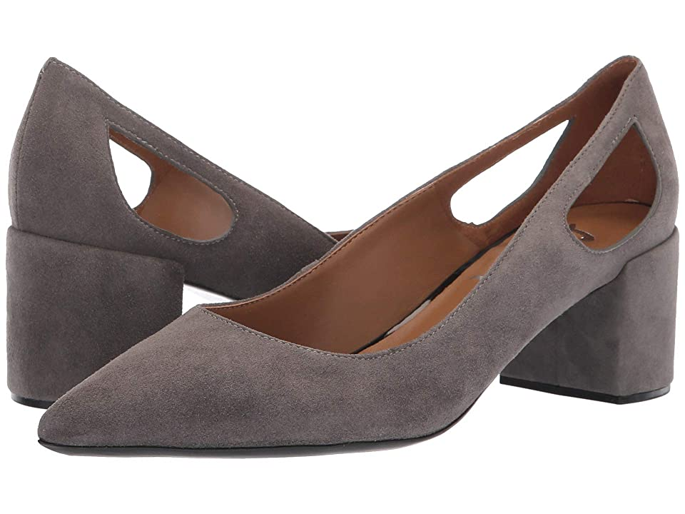 French Sole Courtney2 Heel (Dark Grey Suede) Women