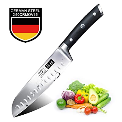 "Santoku Knife 7"", SHANZU Santoku Chef Knife Hig..."