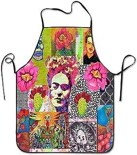 GuyIvan Frida Kahlo y México Collage Pattern Chef Women 's Men' s Funny Creative Print Delantales de Cocina