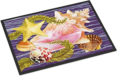 Caroline's Treasures Conch and Starfish Door Mat doormats, Multicolor