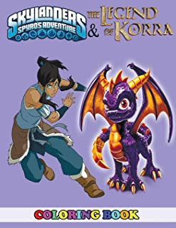 Skylanders Spyro's Adventure and The Legend of Korra Coloring Book: 2 in 1 Coloring Book for Kids and Adults, Activity Book, Great Starter Book for Children with Fun, Easy, and Relaxing Coloring Pages
