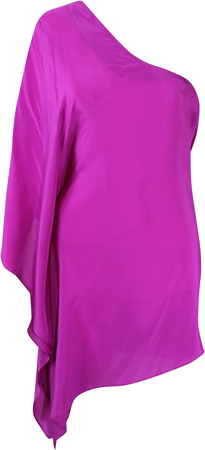Blaque Label Womens Hot Pink One Shoulder Blouse Hot Pink