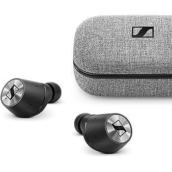 【2019 VGP Award金賞】ゼンハイザー Bluetooth 完全ワイヤレスイヤフォン MOMENTUM True Wireless, ドイツ本社開発7mmドライバー、Bluetooth 5.0 Class 1, 途切れにくい、NFMI、低遅延、aptX-LL, aptX, AAC, 外音取込、通話【國內正規品】