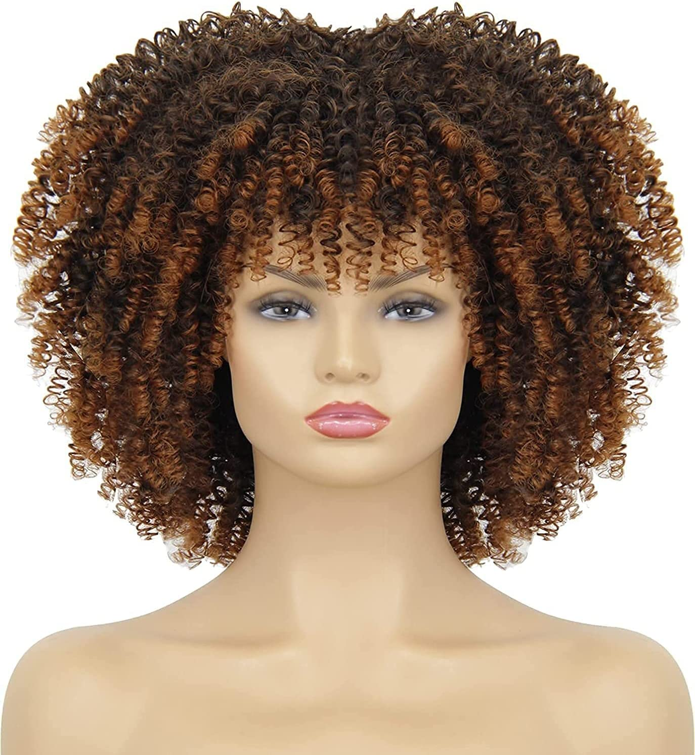 Limited time trial price xiaoji Black Female Curly Bangs Heat-Resi Max 86% OFF Natural Wig Appearance