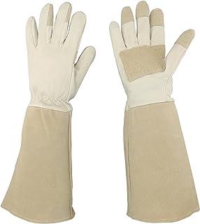 CICINY Thornproof Pigskin Leather Gardening Gloves Long Sleeve For Women and Men, Rose Pruning Floral Gauntlet Garden Gloves