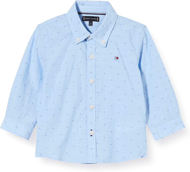 Tommy Hilfiger Dobby Shirt L//S Chemise Gar/çon