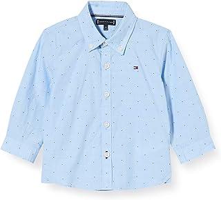 Tommy Hilfiger Dobby Clipping Detail Shirt L/S Camisa para Niños