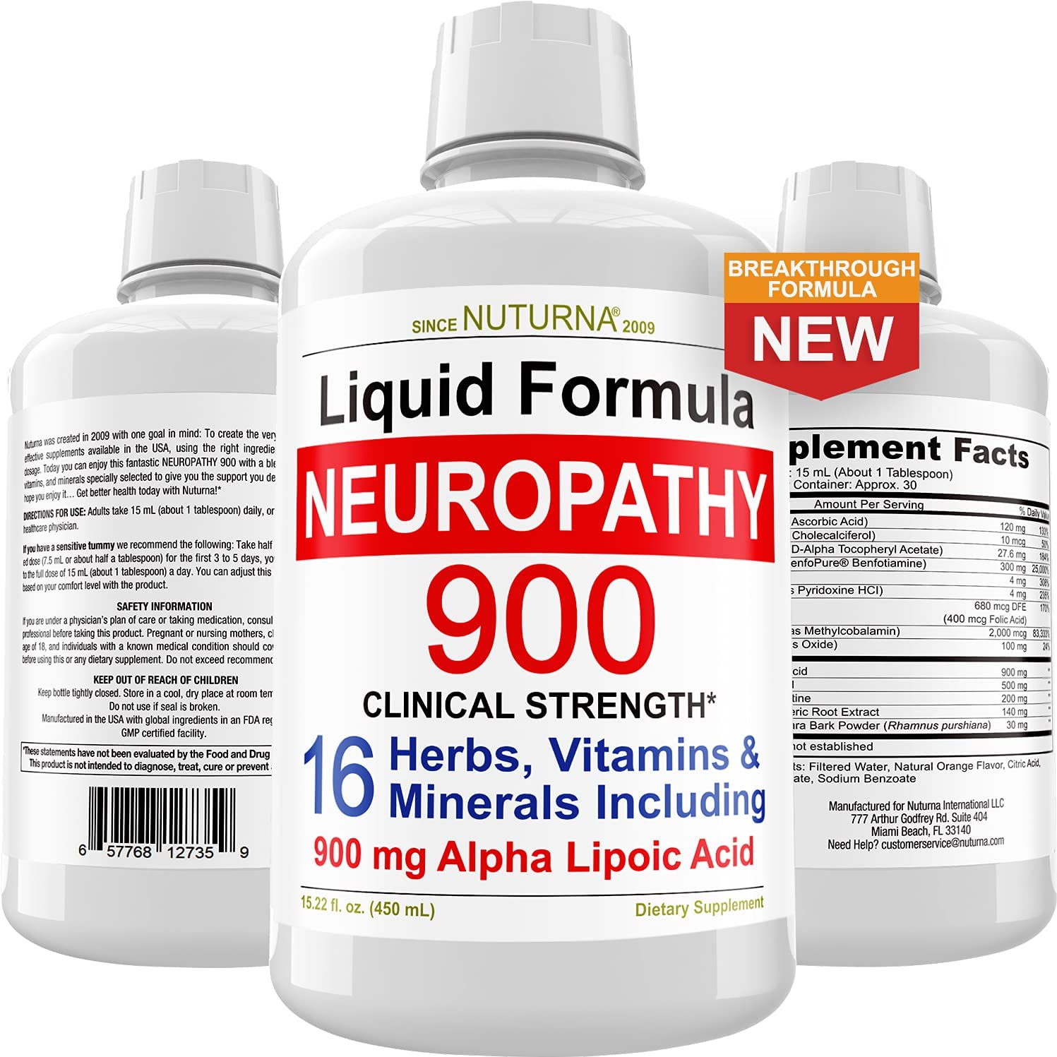 Neuropathy Support Supplement Liquid - with Relief Nerve 900 mg Don't Japan Maker New miss the campaign