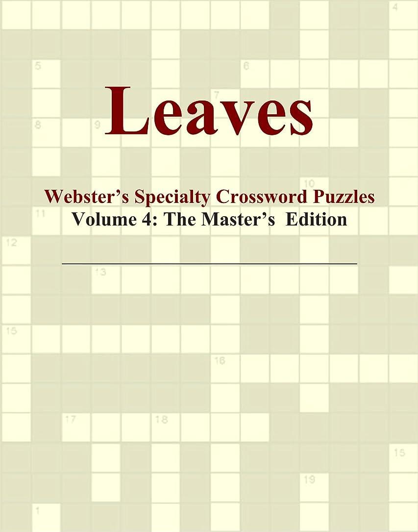 思想認知漏斗Leaves - Webster's Specialty Crossword Puzzles, Volume 4: The Master's Edition