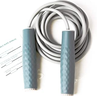 VWMYQ Speed Jump Ropes / Weighted Jump Rope(1LB), Skipping Ropes, Silicone Grip Weighted Handles, Adjustable Length Jumpin...