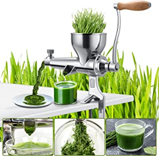 Multifunctional manual juicer, wheat juice and other vegetable juices, juice as you choose, stainless steel setting, simpl...